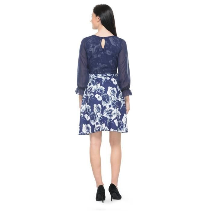 Womens Multicolor Printed Shift Dress VC9N2 Taille-40