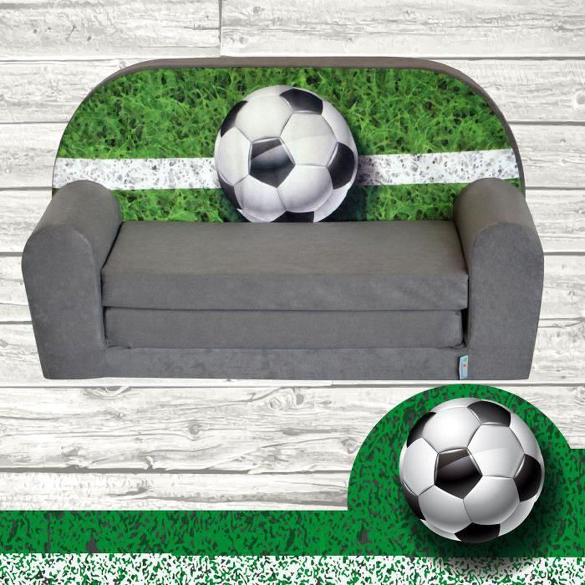 dc7714e6bb22 Mini-canapé lit enfant Football - Achat   Vente fauteuil - canapé ...