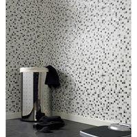 Papier Peint Cuisine Et Salle De Bain Contour Checker Blanc Gris