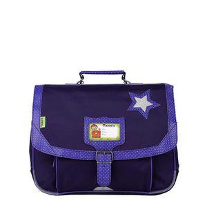 TANN'S Cartable STAR Maternelle - 1 compartiment - 3 ? 6 ans - 35cm - Bleu - Enfant Fille