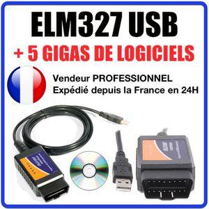OUTIL DE DIAGNOSTIC ★ Câble / Interface ELM 327 USB - Diagnostique AUT