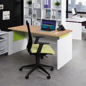 BUREAU  Bureau professionnel droit 140x80 cm coloris chêne