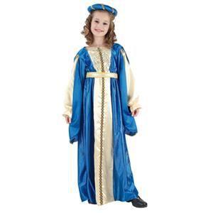 DÉGUISEMENT - PANOPLIE Costume Enfant Princesse Medievale Bleue et Or Tai 7781c30c6053