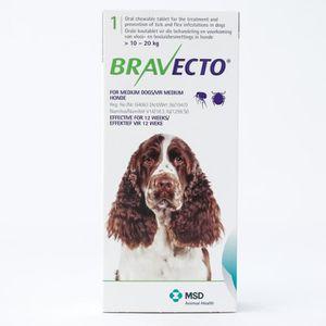 ANTIPARASITAIRE Bravecto 500 mg pour chiens de taille moyenne de 1