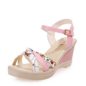 Mesdames Femmes Wedges Chaussures d'été Sandales Platform Toe chaussures à talons hauts @LMH80104553PK dBKJuR