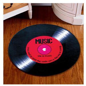 TAPIS Tapis de disque vinyle 100cm décoration maison Sal