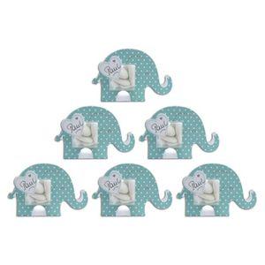 BOÎTE À DRAGÉES TOGA Lot de 6 boîtes à dragées éléphant - garçon