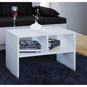 """TABLE D'APPOINT VCM Table d'appoint """"Nachto""""  Blanc  réf 911091"""