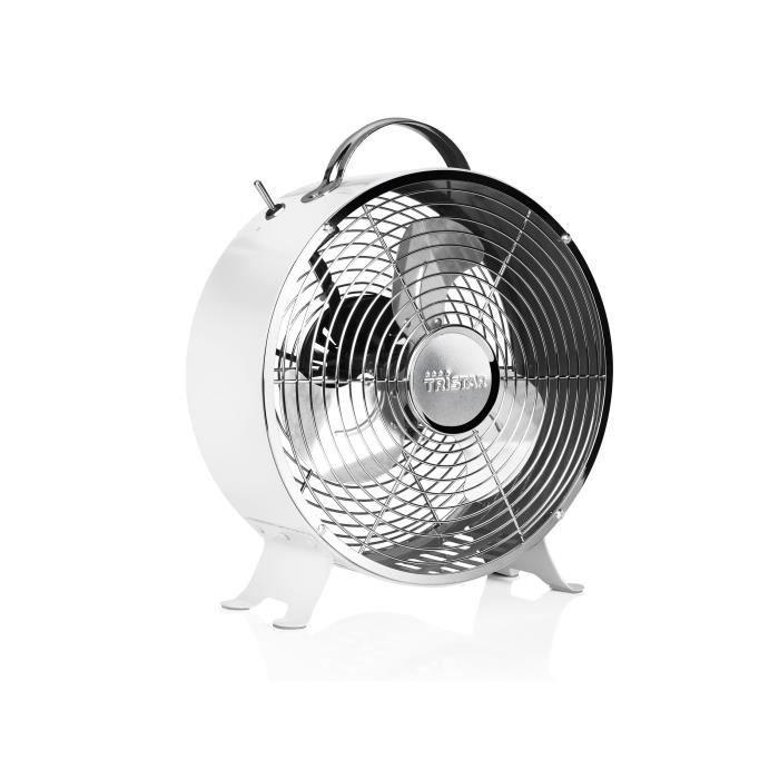 TRISTAR VE-5967 Ventilateur de sol Ø25 cm - 20 watts - 2 vitesses - Blanc