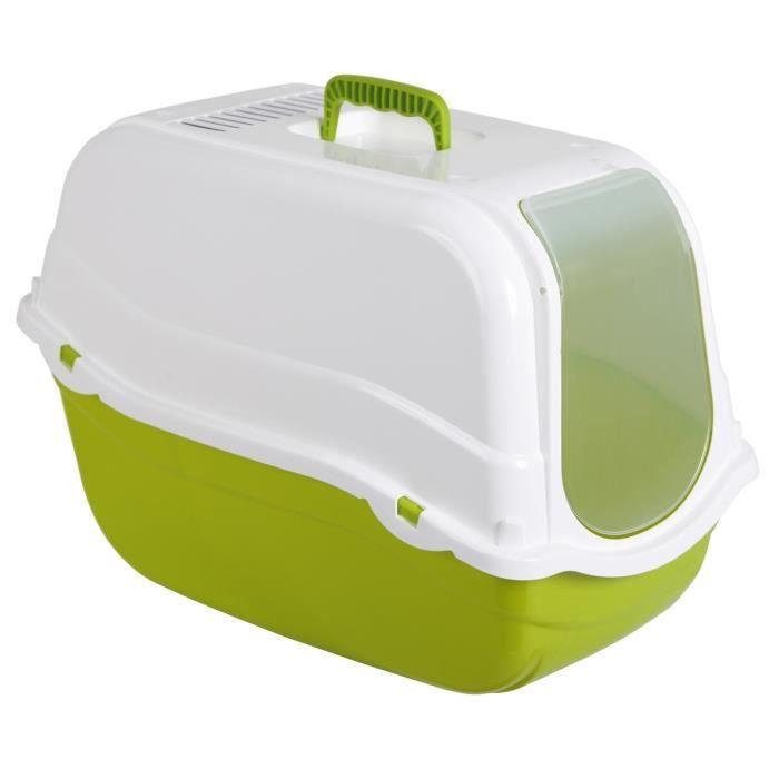KERBL Litière Minka pour chat - 57x39x41cm - Vert et blanc
