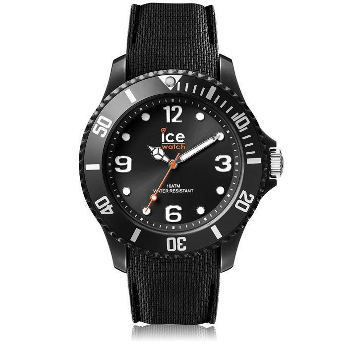 5cbb31aa63af1 Ice-Watch - ICE sixty nine Black - Montre noire pour homme avec bracelet en  silicone