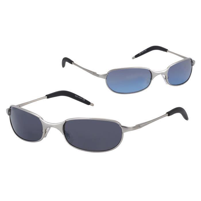 Lunettes de soleil Classiques Homme Say - Métal verre gris