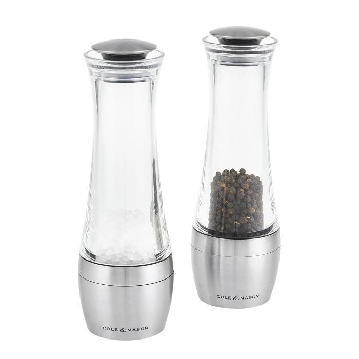 MOULIN DE CUISINE Cole & Mason CH308798P Coffret de moulins sel et p