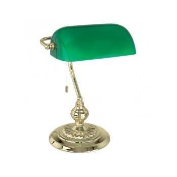 Lampe de bureau acier verre achat vente lampe de for Lampes de bureau pas cher