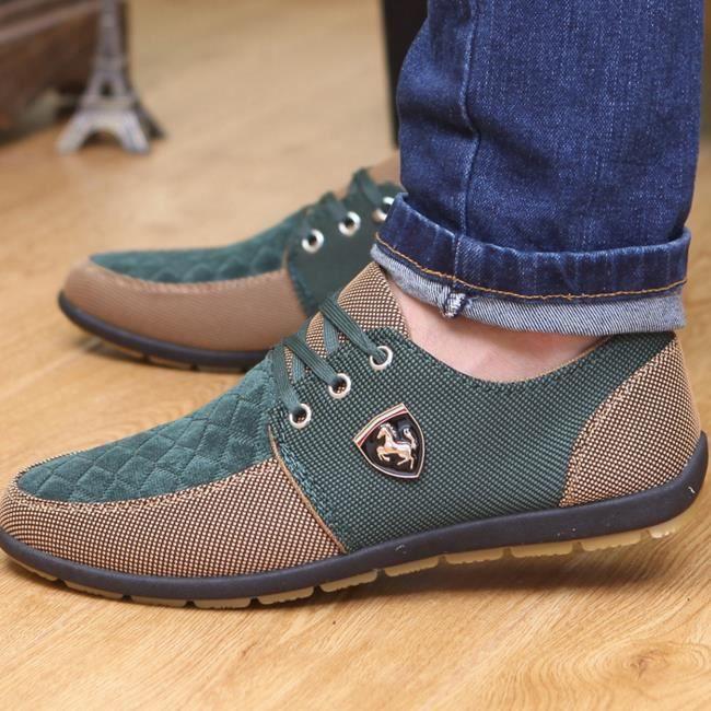 Mocassin Femmes Printemps Ete Mode Casual Plat Chaussure DTG-XZ086Marron34 3RoJjso