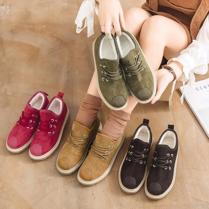 Chaussures Detente Chaussures fille nouveau L'hiver au printemps de nouveau femme bottes de neige chaud antidérapant Chaussures 1EazHwCWx