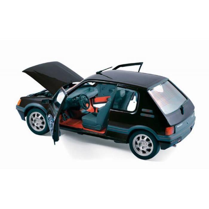 Voiture Miniature Peugeot 205 Gti 1 9l Noir Norev 1 18 Achat