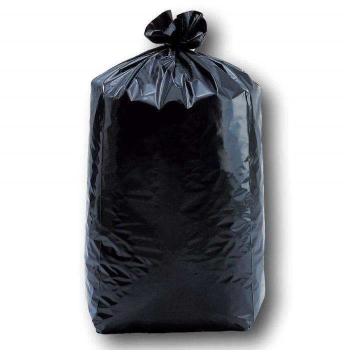 SAC POUBELLE Lot de 10 sacs poubelles noirs 100 litres 82 x 85