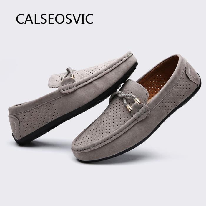Calseosvic Mocassin Homme Simplifié Gris -Haut marque 3nvGXS7j