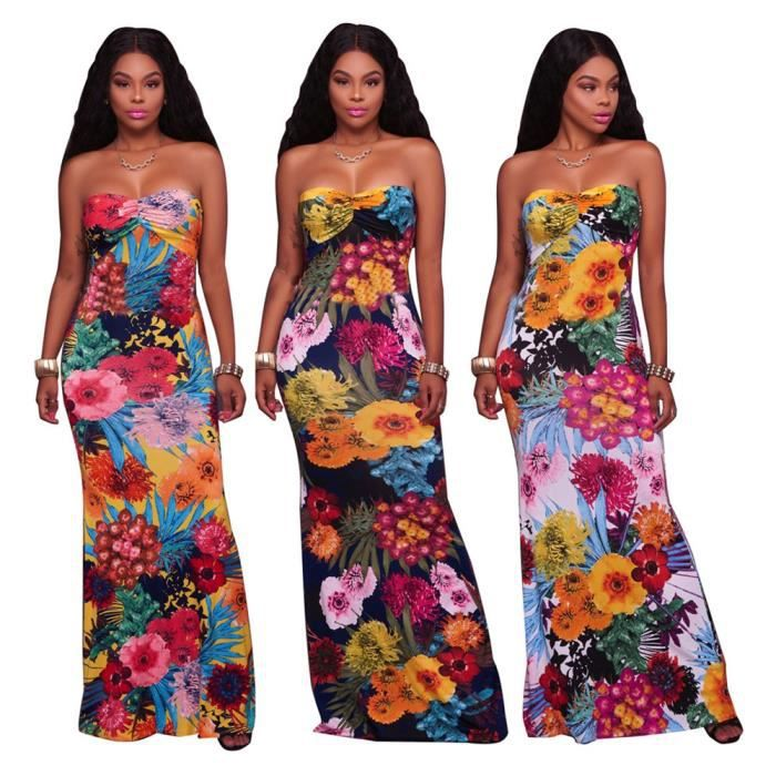 Femme Robes Nouvelle Mode Longue Sans manches Robe Collier à un mot Coffre enroulé Vetements Grande Taille S-XL