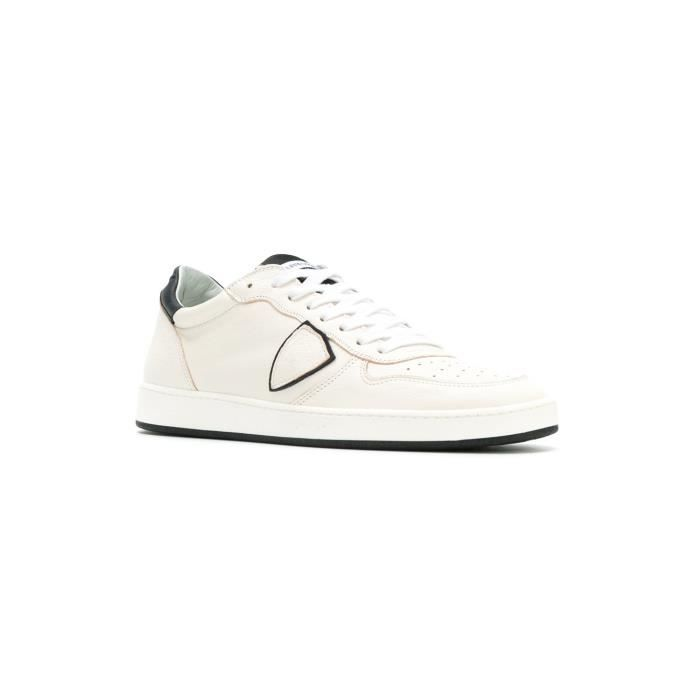 PHILIPPE MODEL HOMME LKLUVD02 BLANC CUIR BASKETS itLaooN