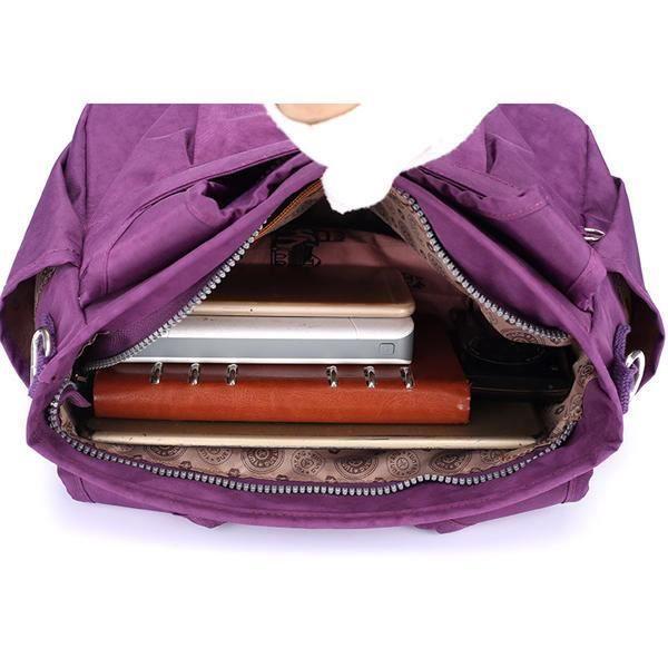 SBBKO2189WomenNylonSacàbandoulièreléger à sac à main résistant à leau pour femmes Khaki