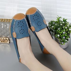 Mocassin Femmes Cuir Talon plat Durable Chaussure XX-XZ046Bleu40 E2wnvBjdpn