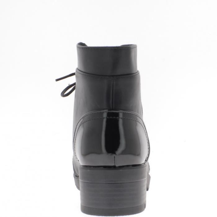 Bottines femme noires à talon de 4,5cm et semelle de 1,5cm