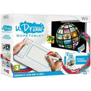 PACK ACCESSOIRE TABLETTE UDRAW + UDRAW 2 / Jeu console Wii