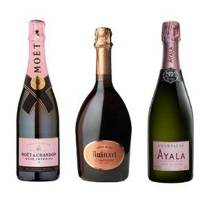 CHAMPAGNE Lot Découverte 3 Champagne Rosé 75cL