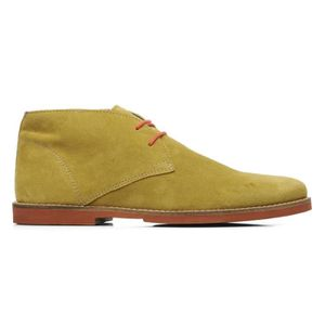 Homme leather WRIGHT 42 Suede FRANCK Curry Chaussures Montante Bridges Pointure 6gxqI0v