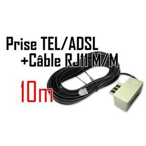 CÂBLE RÉSEAU  CABLING® Filtre ADSL prise Gigogne + Câble RJ11…