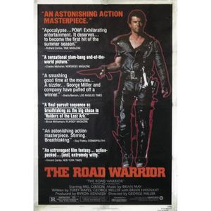 AFFICHE - POSTER Poster Mad Max II The road + 1 Powerstrips©, tesa