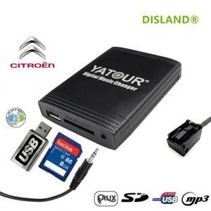 CHARGEUR CD VOITURE DISLAND® Interface USB MP3 SD AUX adaptateur autor