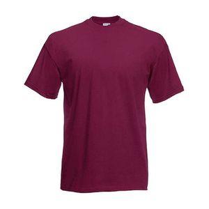 T-SHIRT T-shirt Bordeaux Mixte Homme Femme SC221.100% Coto 8870ff8a21d9