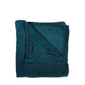 plaid polaire microfibre bleu canard bleu achat vente couverture plaid soldes d s le. Black Bedroom Furniture Sets. Home Design Ideas
