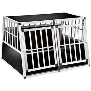 CAISSE DE TRANSPORT TECTAKE Cage de Transport pour Chien Double en Alu