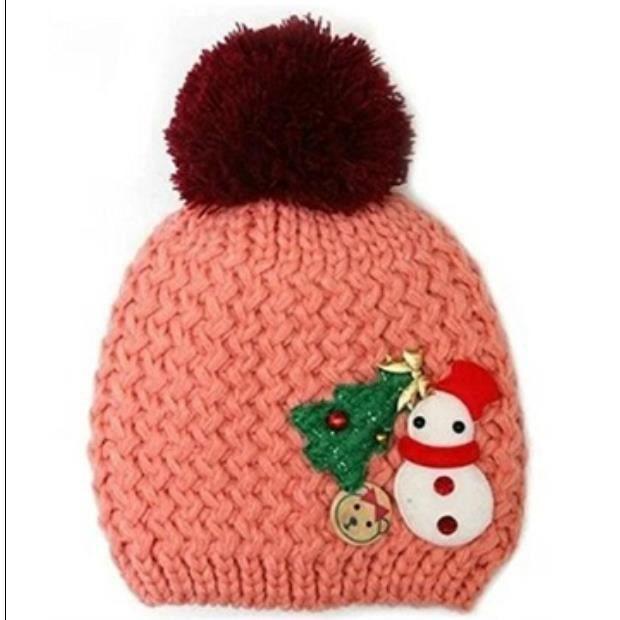 b2850fe6f70d 1-2 ans vieux chapeau bébé bonnet de laine d hiver--rose - Achat ...