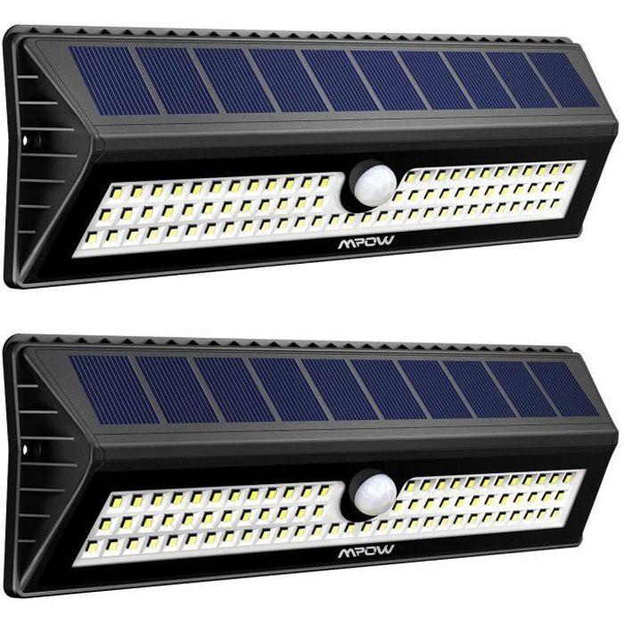 lampe solaire exterieur avec detecteur achat vente pas cher. Black Bedroom Furniture Sets. Home Design Ideas
