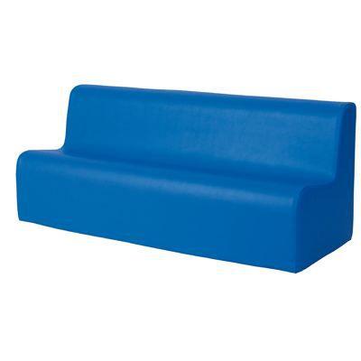 canapé 3 places en mousse avec housse en pvc bleu - Achat ...