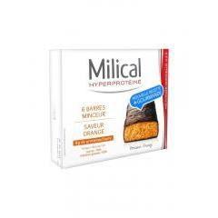 MILICAL NUTRITION Barres minceur hyperprotéinées - Saveur orange x 6