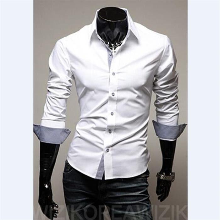 M Nouvelle Vetement Grande Taille Confortable De Chemise Qualité Xxxl Chemisier Hommes Homme Meilleure Marque Collection Luxe RL34j5A