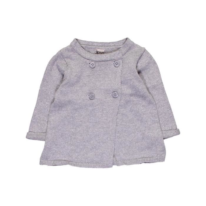 Gilet bébé fille TAPE À L OEIL 6 mois gris hiver - vêtement bébé ... b2366d805066