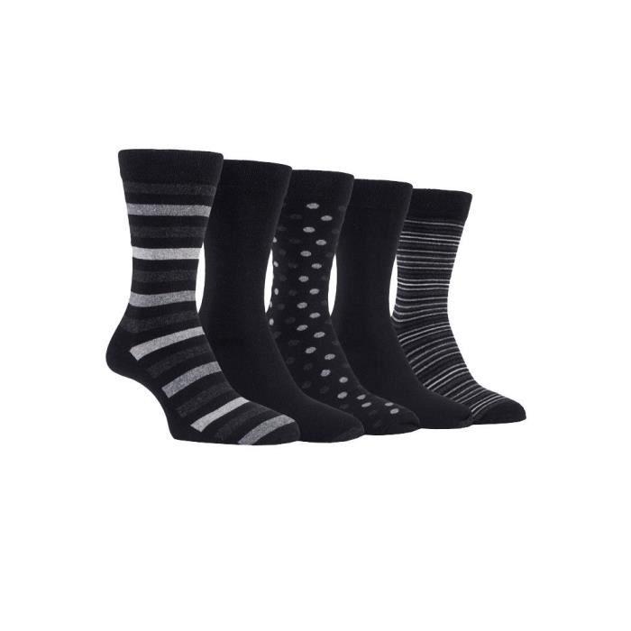 b2fee171cc6 Farah - 5 paires homme coton chaussettes colorées rayures et rayées ...