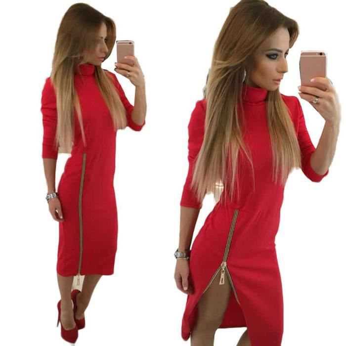 634b64bfb174 Robe rouge femme - Achat   Vente pas cher