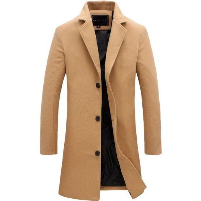 Jacket Court Classique Blouson Manteaux Slim Coat Homme Trench Automne Fit Kaki Veste Décontracté Hiver Parka 0qw5xz8v