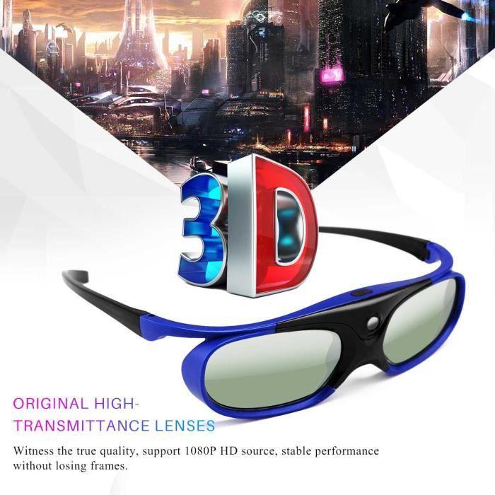 e22e91d188 Lunettes 3D actives DLP Pour Optoma BenQ Projecteur Acer Viewsonic XGIMI  3DTV
