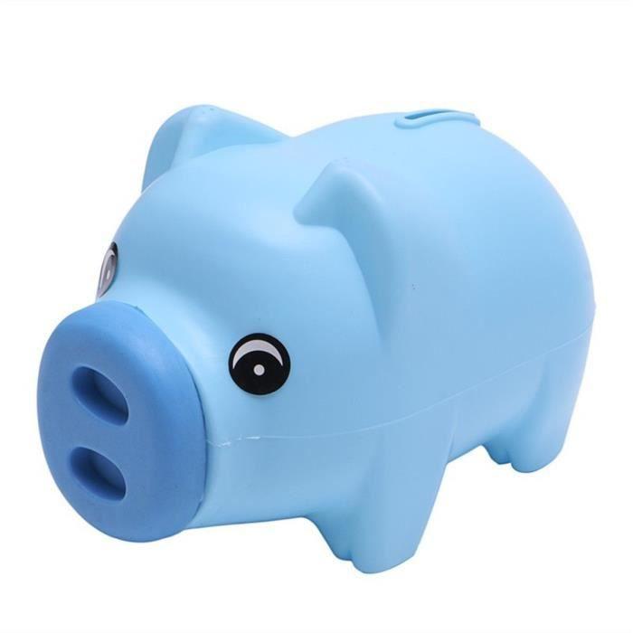 tempsa tirelire plastique forme cochon mignon pi ce argent enfants cadeau noel bleu achat. Black Bedroom Furniture Sets. Home Design Ideas