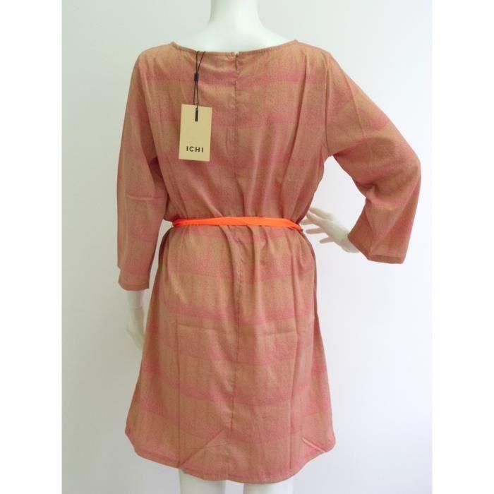 Robe dété ICHI rose orange Taille L