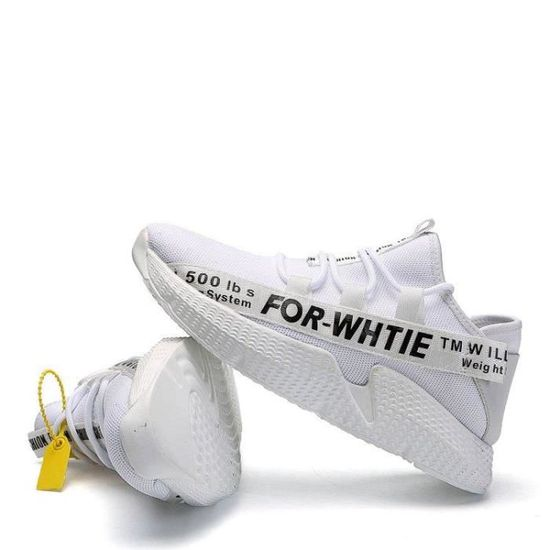 Baskets Homme Anti-DéRapant Dexterity Lacets Coussin D'Air Souplesse Blanc Haute Qualité Dexterity Blanc Blanc Souplesse - Achat / Vente basket d121df